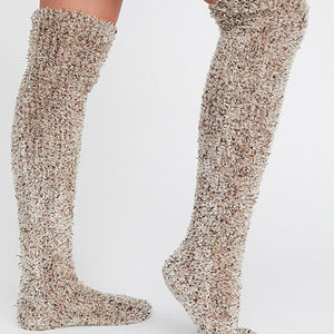 19e1a47af7a Free People Accessories - Free People Thigh High Cozy Fuzzy Slumber Socks